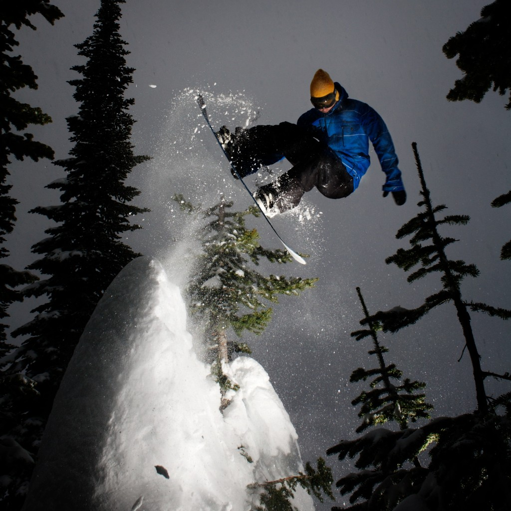 Ian Kristofor Linde, melon to fakie with the help of a tree. Fernie B.C. Canada.