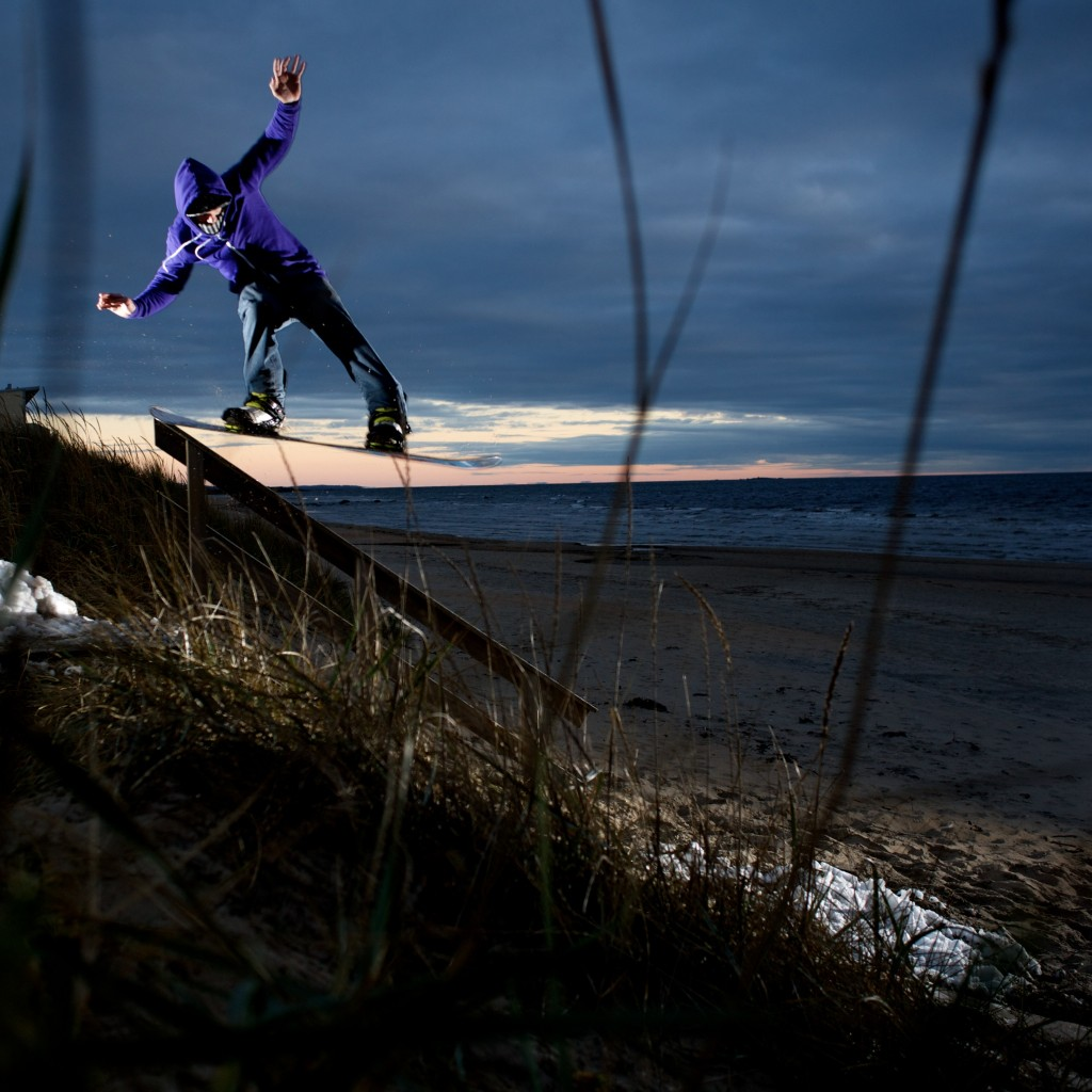 Brian Wolfe tapping the rail. Falkenberg, Sweden.